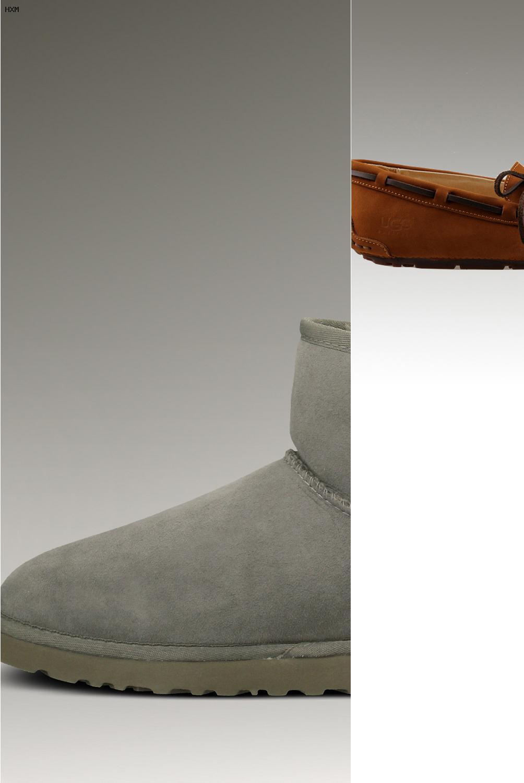 ugg classic mini bottes en cuir